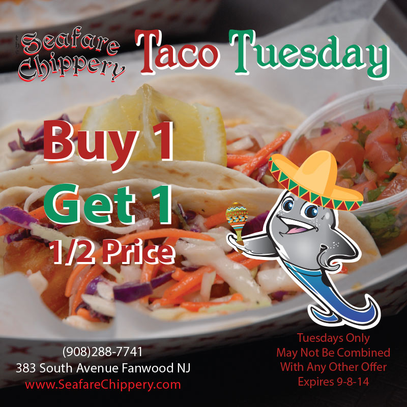 Chippery Taco Tuesday - Buy 1 get 1 half price